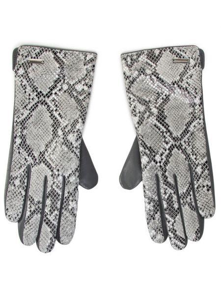 Szare rękawiczki Wittchen
