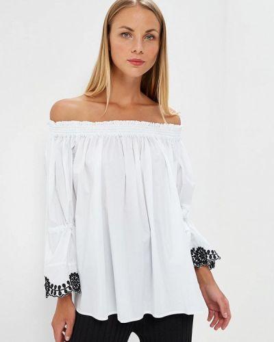 Белая блузка с открытыми плечами Glamorous
