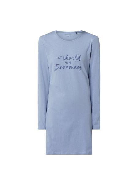Z rękawami bawełna bawełna koszula nocna z dekoltem Schiesser
