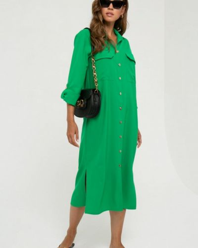 Прямое платье - зеленое Gold Chic Chili