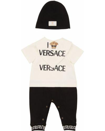 Kapelusz z nadrukiem z logo Versace