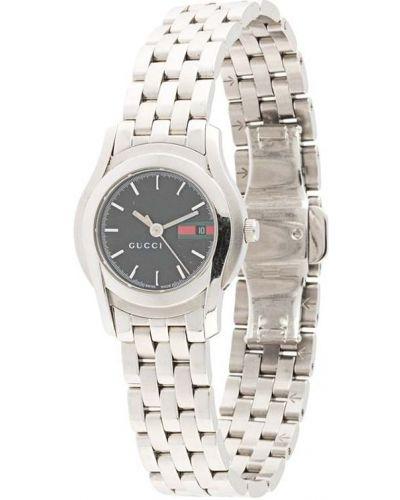 Со стрелками серебряные часы круглые Gucci Pre-owned
