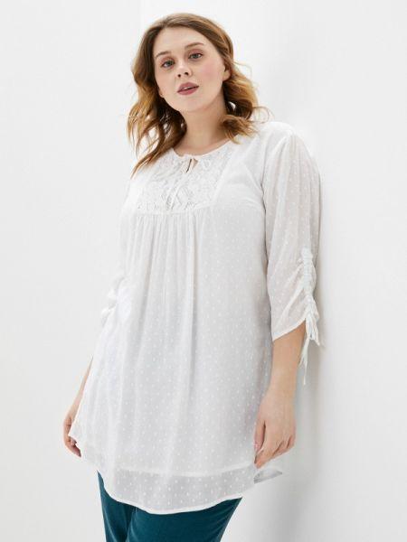 Блузка с длинным рукавом весенний бежевый Ulla Popken