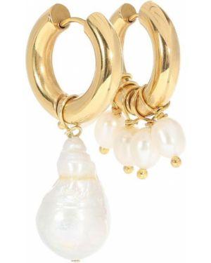 Серьги-гвоздики пластиковые серьги-кольца Timeless Pearly