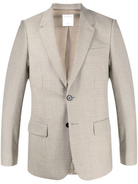 Классический пиджак в клетку с карманами Sandro Paris