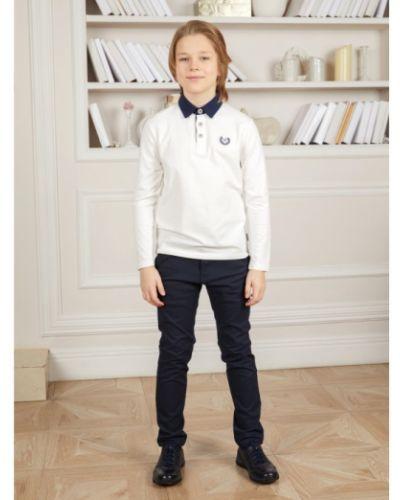 Зауженные школьные классические брюки на резинке Luminoso