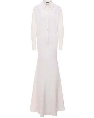 Шелковое платье - белое Kiton