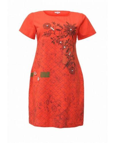 Повседневное красное платье Indiano Natural