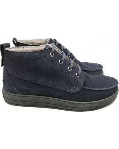 Велюровые ботинки - синие Stepter