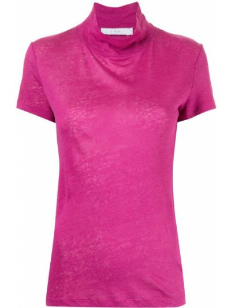 Фиолетовая льняная футболка Iro