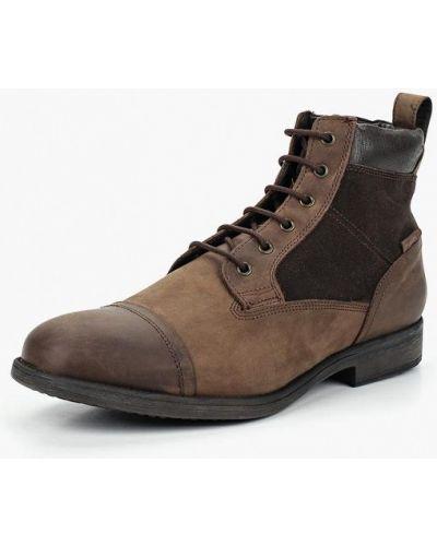 Кожаные ботинки замшевые осенние Geox