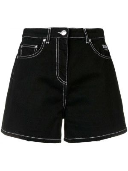 Короткие шорты джинсовые черные Msgm