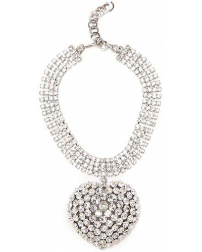 Чокер серебряный металлический Alessandra Rich