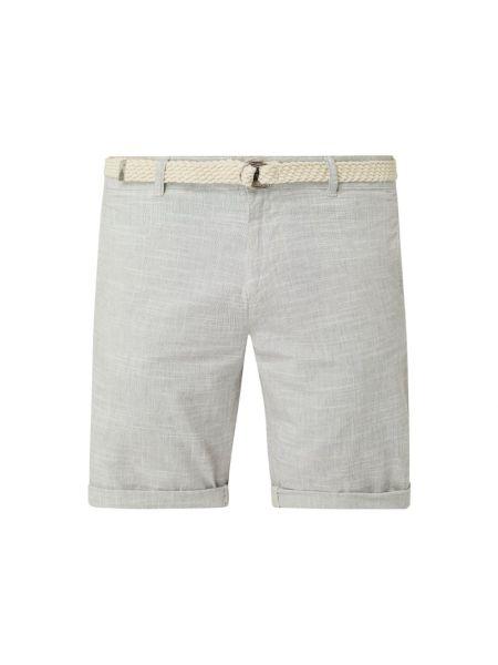Bawełna niebieski dżinsowe szorty z kieszeniami z paskami Tom Tailor Denim
