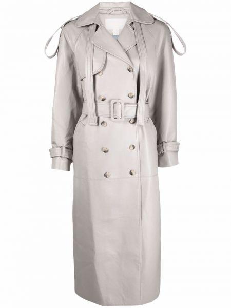 Бежевое длинное пальто Matériel