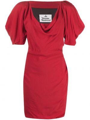 С рукавами красное платье мини с вырезом Vivienne Westwood
