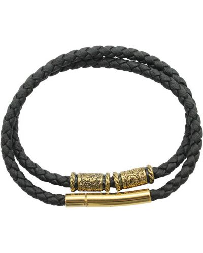Золотой браслет позолоченный металлический Swanky
