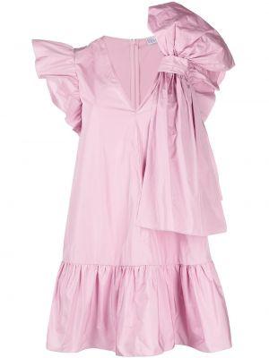 Розовое платье А-силуэта оверсайз без рукавов Red Valentino