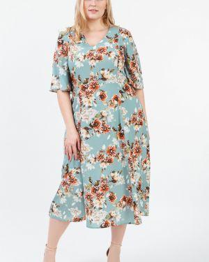 Платье мини серое с V-образным вырезом Lacywear