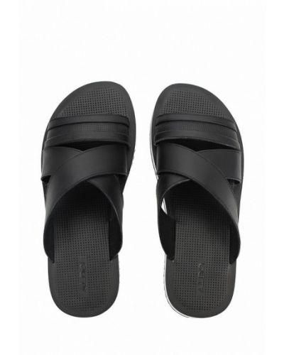 Черные сандалии кожаные Aldo