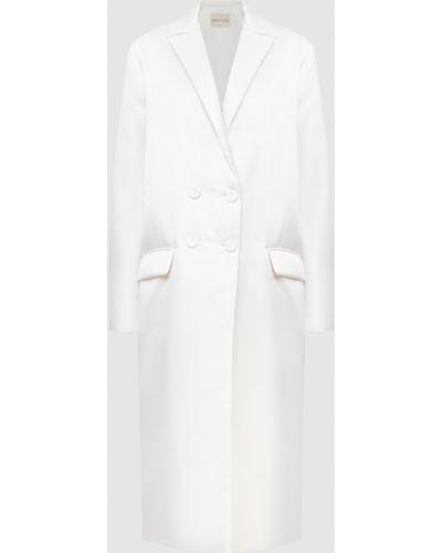 Бежевое пальто двубортное Emilio Pucci