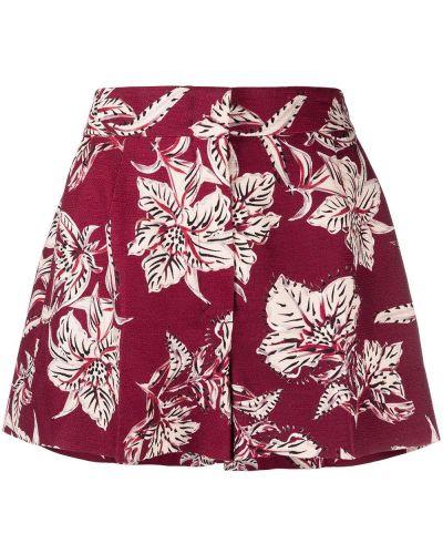 Шерстяные красные с завышенной талией шорты Dorothee Schumacher