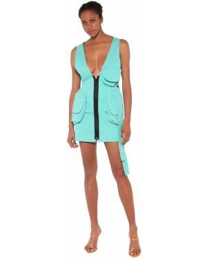 Платье мини с V-образным вырезом с оборками Natasha Zinko