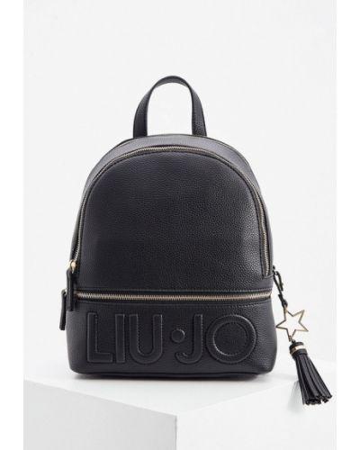 Кожаный черный рюкзак Liu Jo