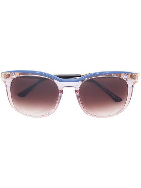 Прямые розовые солнцезащитные очки квадратные металлические Thierry Lasry