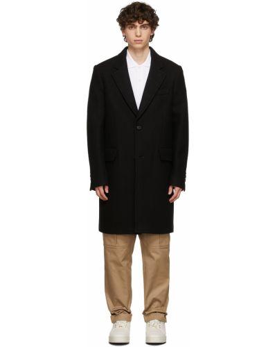 Długi płaszcz wełniany - czarny Ami Alexandre Mattiussi