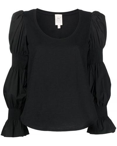 Черная блузка с воланами Cinq À Sept