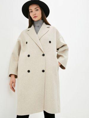 Пальто двубортное - бежевое Mango