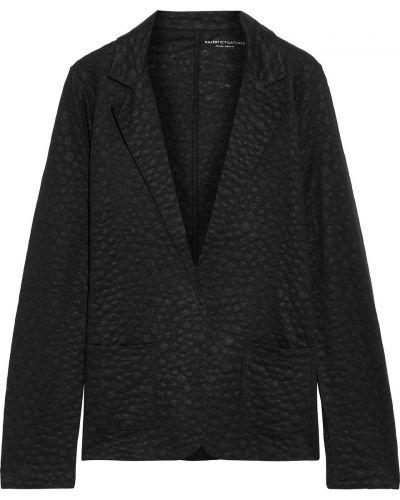 Льняной черный пиджак с карманами Majestic Filatures