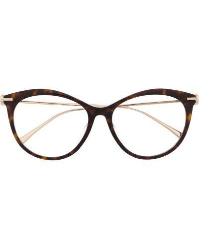 Золотистые очки кошачий глаз металлические хаки Jimmy Choo Eyewear