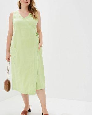 Повседневное платье весеннее зеленый Helmidge