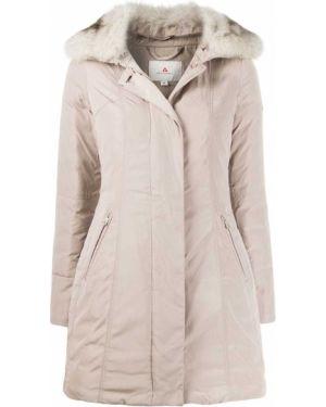 Длинное пальто из лисы Peuterey