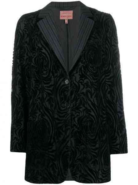 Черная длинная куртка Romeo Gigli Pre-owned