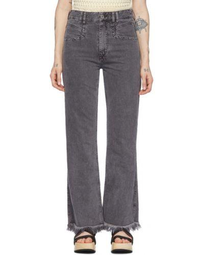 Rozbłysnął niebieski jeansy z łatami z kieszeniami Isabel Marant