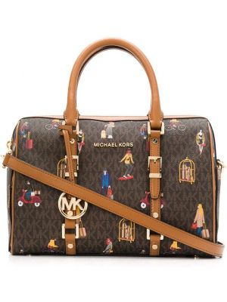Кожаная сумка дорожняя сумка-тоут Michael Michael Kors