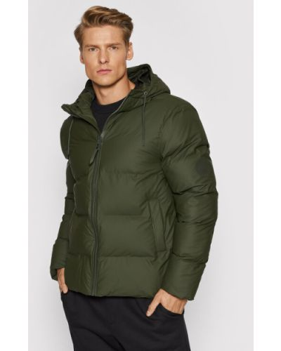 Zielona kurtka puchowa Rains
