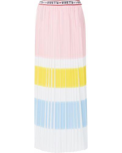 Плиссированная юбка миди розовая Vivetta
