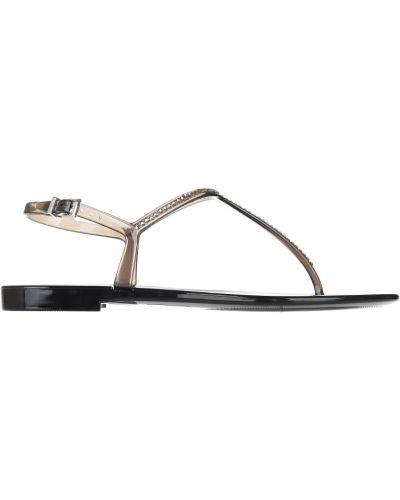 Силиконовые сандалии - коричневые Menghi