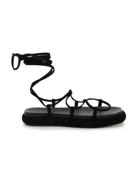 Czarne sandały Khaite