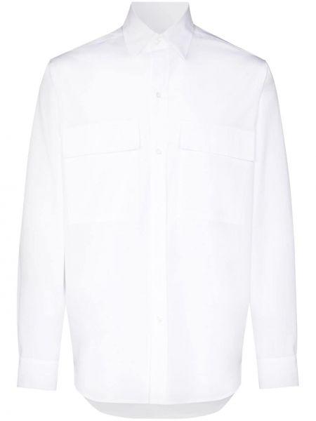 Белая классическая рубашка с воротником с карманами на пуговицах Lou Dalton