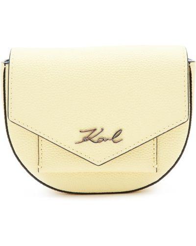Кожаная сумка поясная большая Karl Lagerfeld