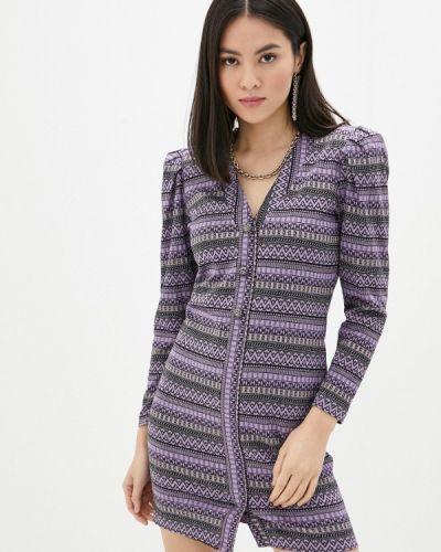 Фиолетовое платье-футляр Rinascimento