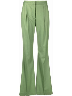 Шерстяные брюки - зеленые Pt01