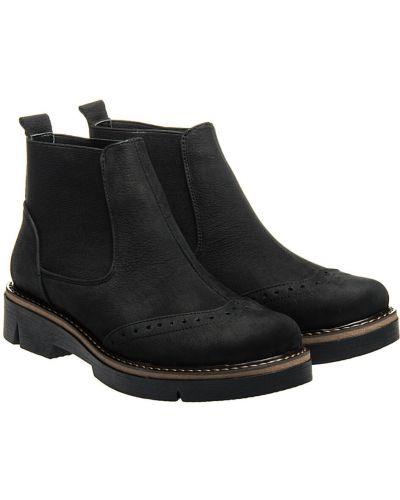 Кожаные ботинки - черные La Rose
