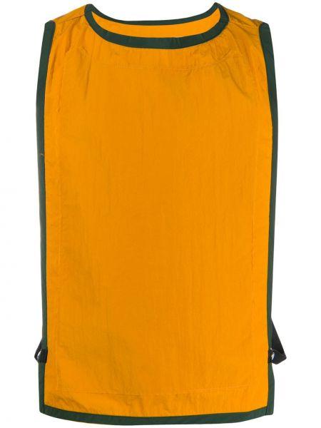 Żółta kamizelka bez rękawów z nylonu Goodfight