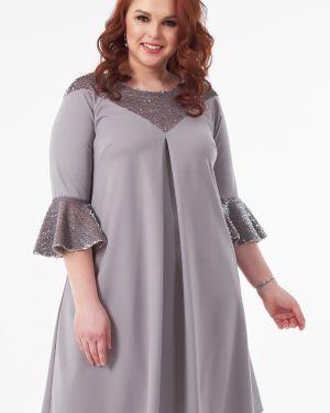 Вечернее платье серое платье-сарафан Wisell